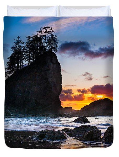 Olympic Sunset Duvet Cover