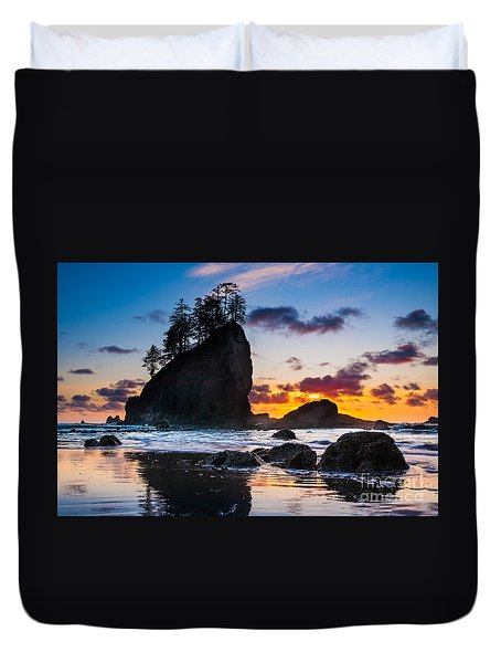 Olympic Sunset Duvet Cover