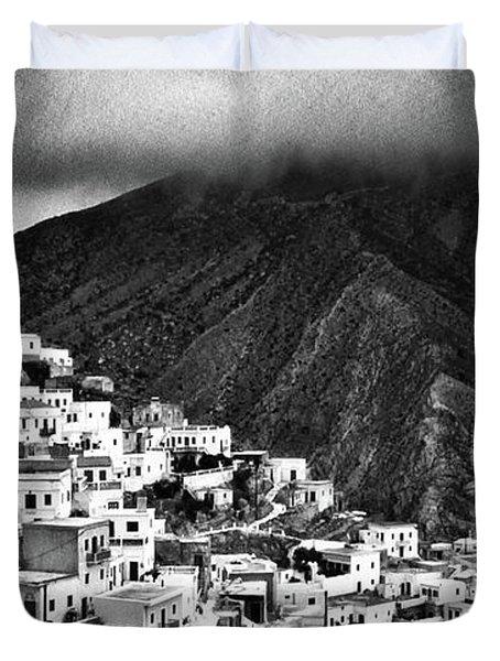 Olympos. Karpathos Island Greece Duvet Cover