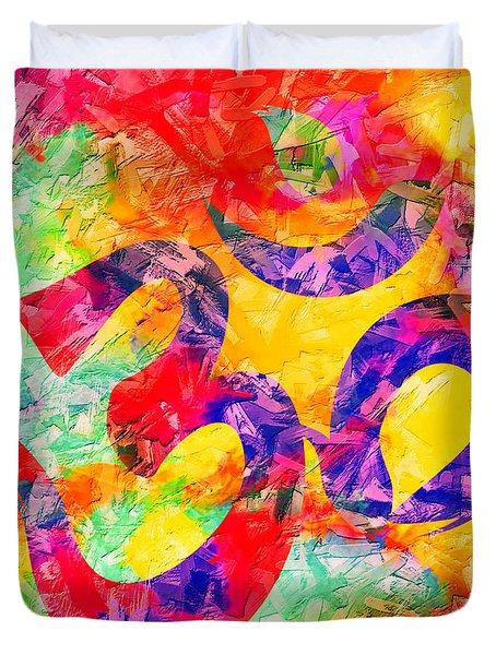 Om Symbol Rainbow 3d Texture Duvet Cover
