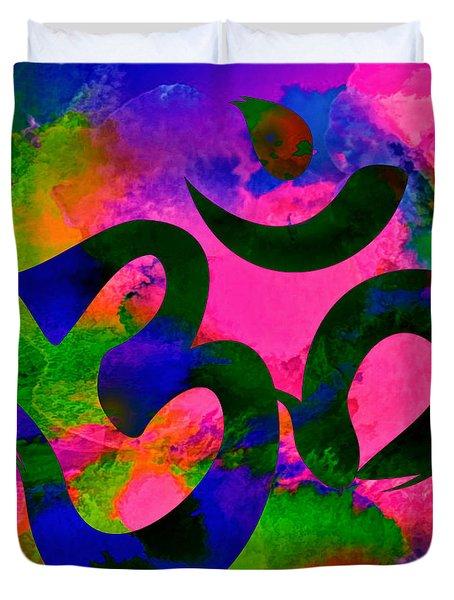 Om Symbol, Rainbow, Ver2 Duvet Cover