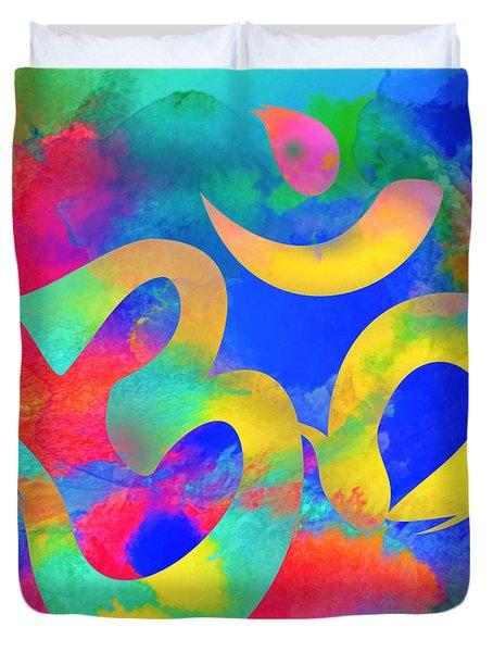 Om Symbol, Rainbow. Ver3 Duvet Cover