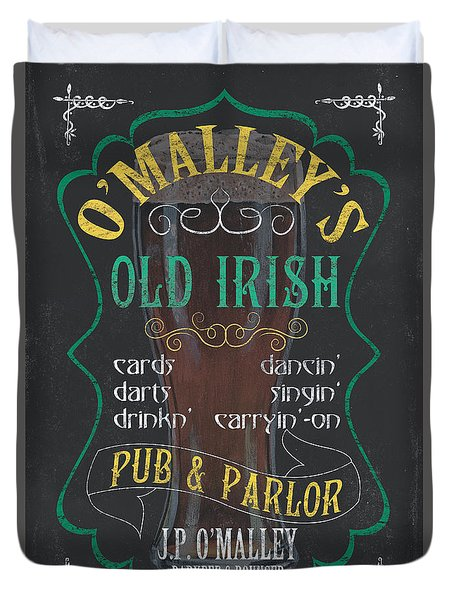 O'malley's Old Irish Pub Duvet Cover