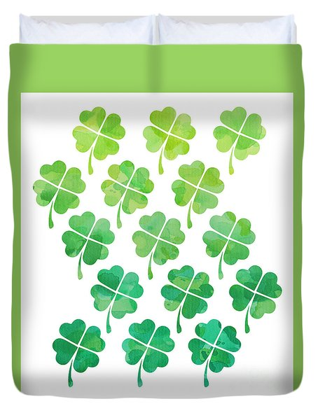 Ombre Shamrocks Duvet Cover