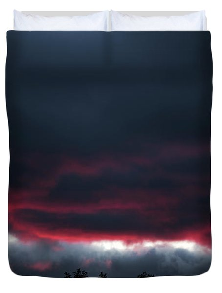 Ominous Autumn Sky Duvet Cover