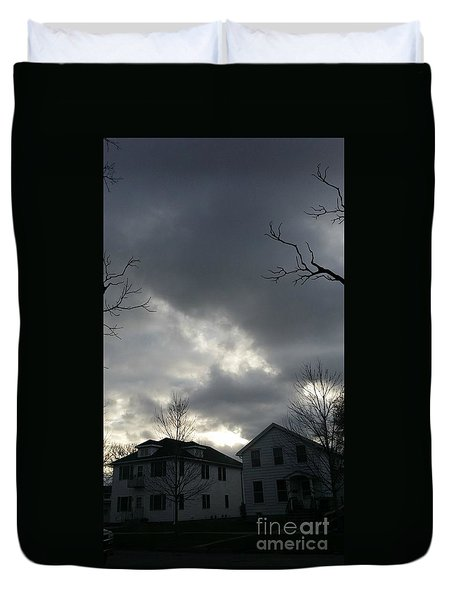 Ominous Clouds Duvet Cover by Diamante Lavendar
