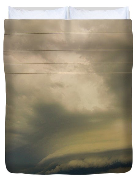 Ominous Nebraska Outflow 007 Duvet Cover