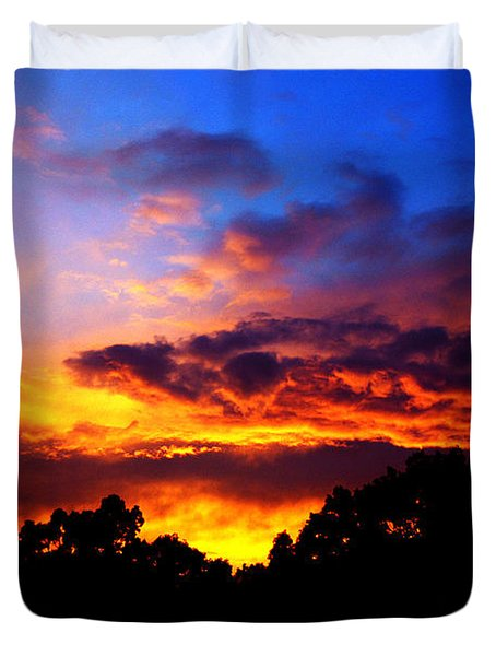 Ominous Sunset Duvet Cover by Clayton Bruster