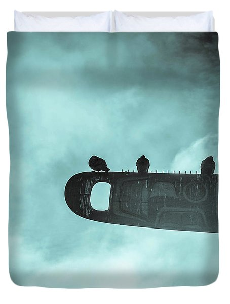 Ominously Seatlle  Duvet Cover