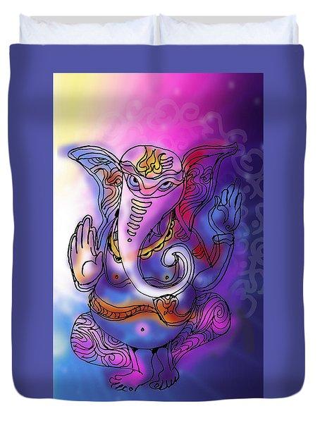 Omkareshvar Ganesha Duvet Cover