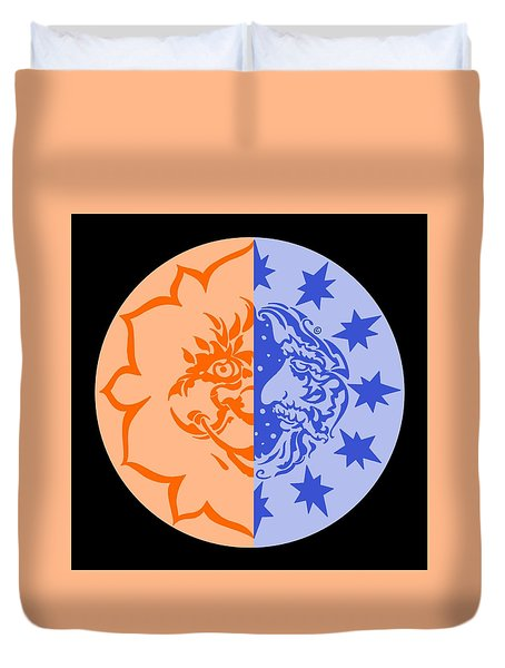 Omniscire Eclipse Logo Duvet Cover by Dawn Sperry