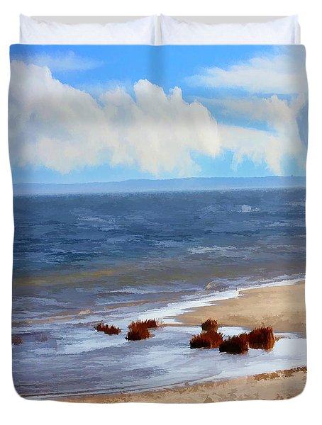 On A Clear Day Duvet Cover by Judy Palkimas