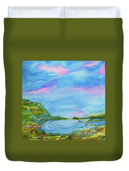 Duvet Cover featuring the painting On A Clear Day by Susan D Moody