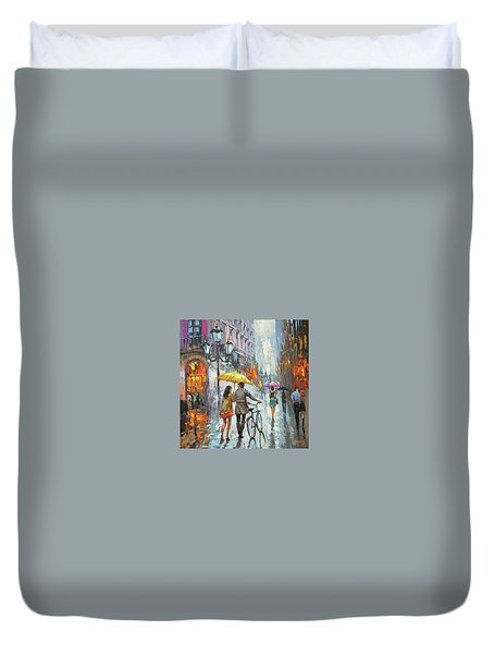 On A Cloudy Day  Duvet Cover