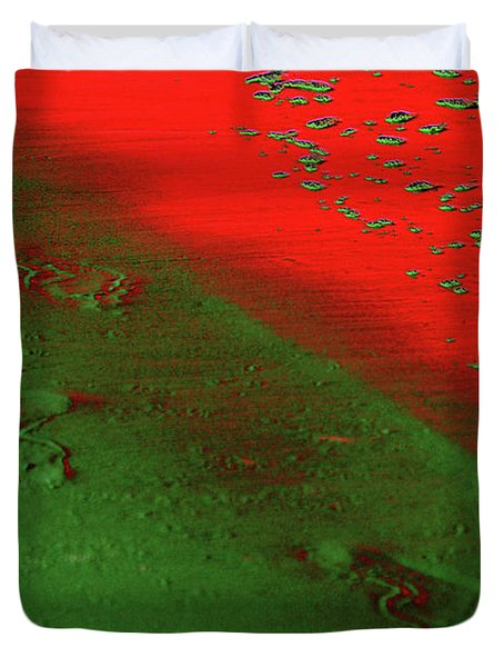On A New Planet Duvet Cover by Susanne Van Hulst