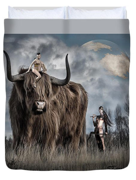On A Quest Duvet Cover