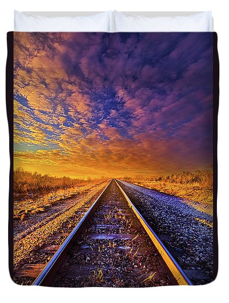 Duvet Cover featuring the photograph On A Train Bound For Nowhere by Phil Koch