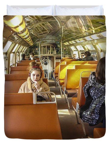 On A Train Duvet Cover