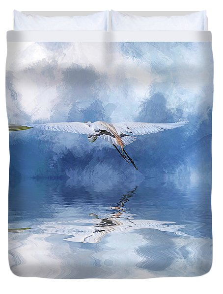 On A Wing And A Prayer Duvet Cover by Cyndy Doty