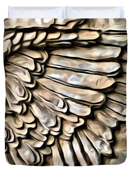 On Angels Wings Duvet Cover