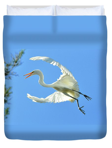 On Approach Landing 2 Duvet Cover