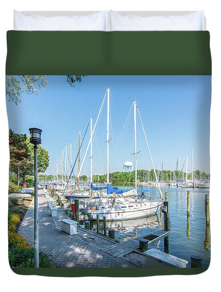 Duvet Cover featuring the photograph On Back Creek by Charles Kraus