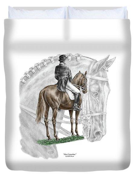 On Centerline - Dressage Horse Print Color Tinted Duvet Cover