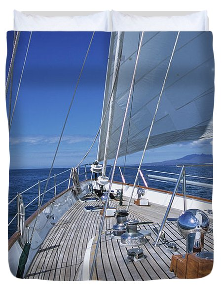 On Deck Off Mexico Duvet Cover