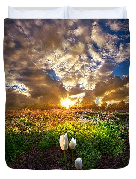 On Earth As It Is In Heaven Duvet Cover by Phil Koch