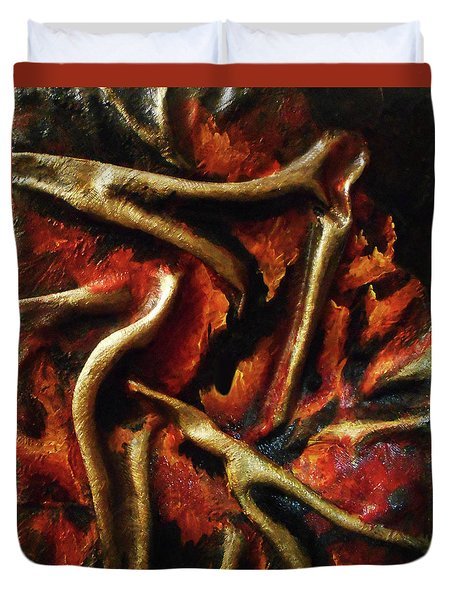 On Fire Duvet Cover by Angela Stout