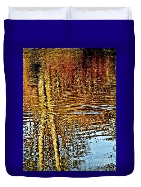 On Golden Pond Duvet Cover by Carol F Austin