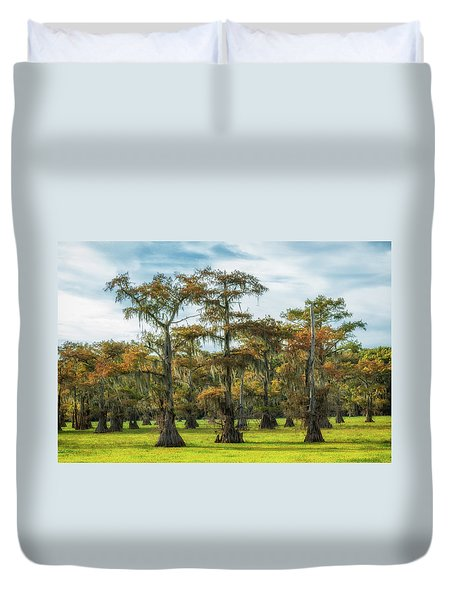 On Green Bayou Duvet Cover