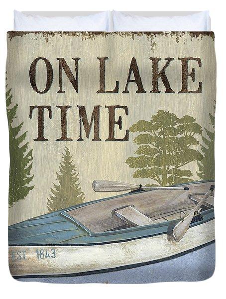On Lake Time Duvet Cover