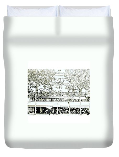 Le Grand Cafe Capucines - Paris, France Duvet Cover