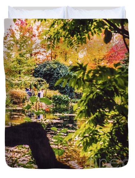 On Oscar - Claude Monet's Garden Pond  Duvet Cover