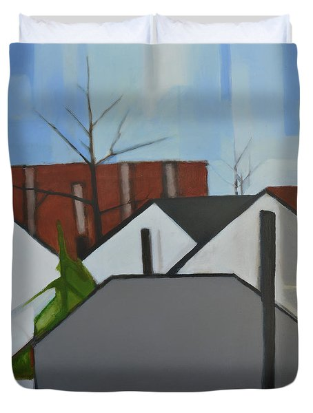On Palisade Duvet Cover by Ron Erickson