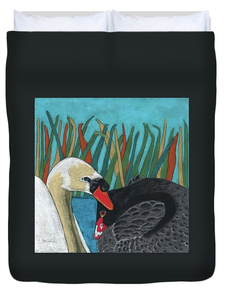 On Peaceful Pond Duvet Cover