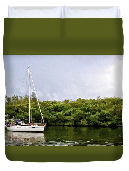 On Quiet Waters Duvet Cover