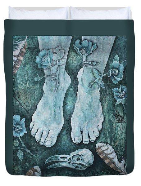 On Sacred Ground Duvet Cover by Sheri Howe