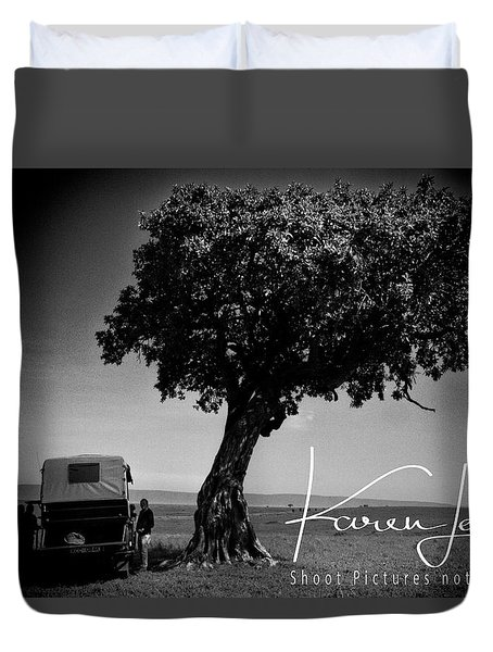 Duvet Cover featuring the photograph On Safari by Karen Lewis