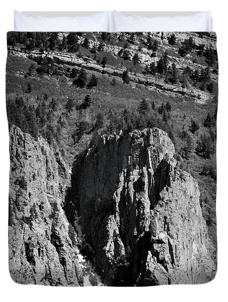 Duvet Cover featuring the photograph On Sandia Mountain by Ron Cline