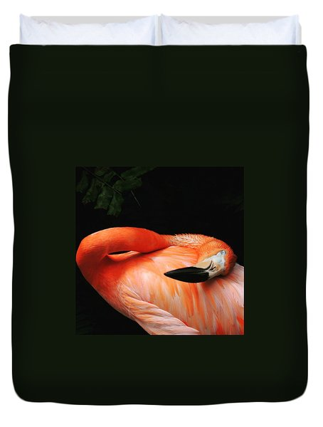 Flamingo At Rest Duvet Cover