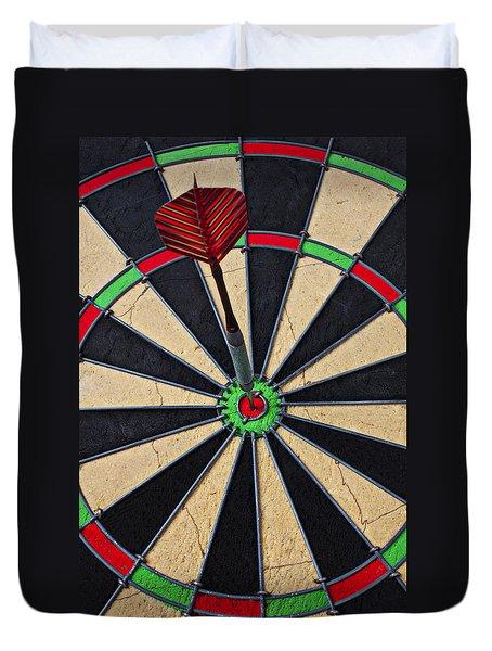 On Target Bullseye Duvet Cover by Garry Gay