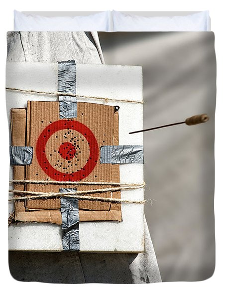 On Target Duvet Cover by Christopher Holmes