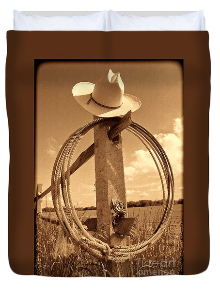 On The American Ranch Duvet Cover