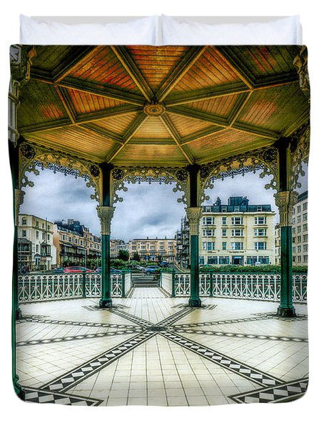 Duvet Cover featuring the photograph On The Bandstand by Chris Lord