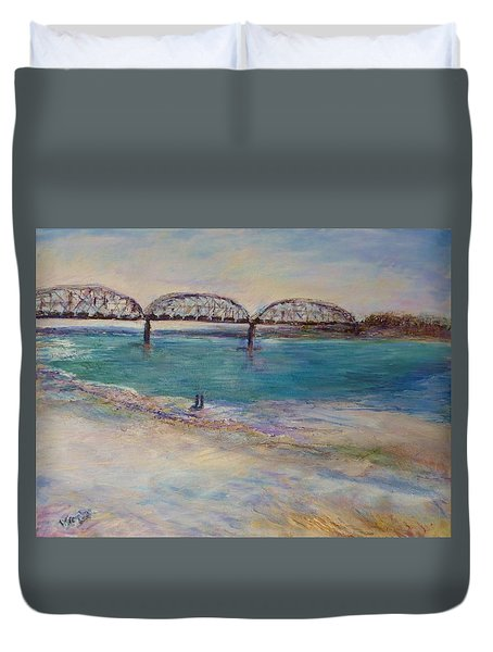 On The Bank Duvet Cover by Helen Campbell