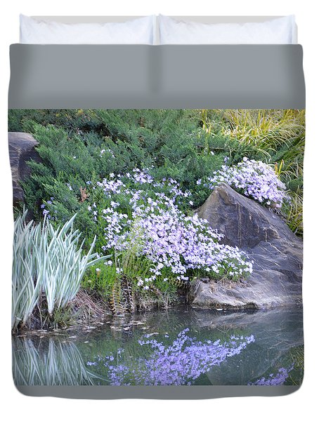 On The Banks Of The Pool Duvet Cover