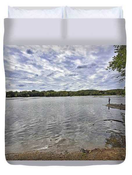 On The Banks Of The Potomac River Duvet Cover