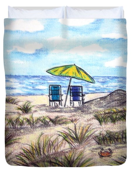 On The Beach Duvet Cover
